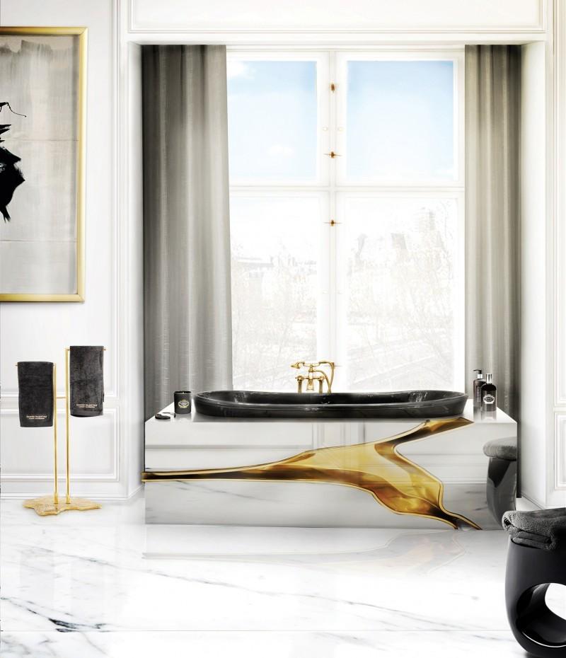 Extraordinary Master Bathroom Projects by SAS COLLECTION PRIVEE extraordinary master bathroom projects by sas collection privee Extraordinary Master Bathroom Projects by SAS COLLECTION PRIVEE a brightful bathroom with the astounding lapiaz bathtub 1