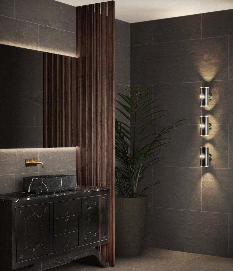 Decorate Bathroom Ideas From Superfat Designs That Will Inspire You  decorate bathroom ideas Decorate Bathroom Ideas From Superfat Designs That Will Inspire You a darker shade of bathroom bliss with the metropolitan washbasin 1