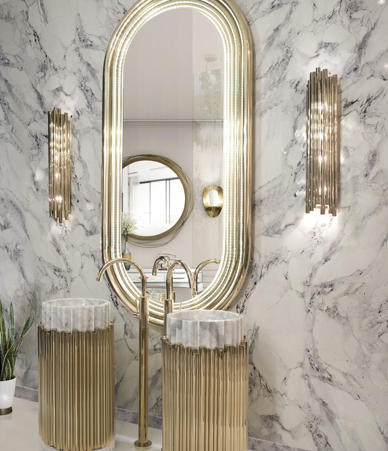 interior designer patricia bustos Beautiful Bathroom Ideas  With Madrid Interior Designer Patricia Bustos an elegant bath space featuring the incredibly powerful colosseum mirror symphony freestand 1