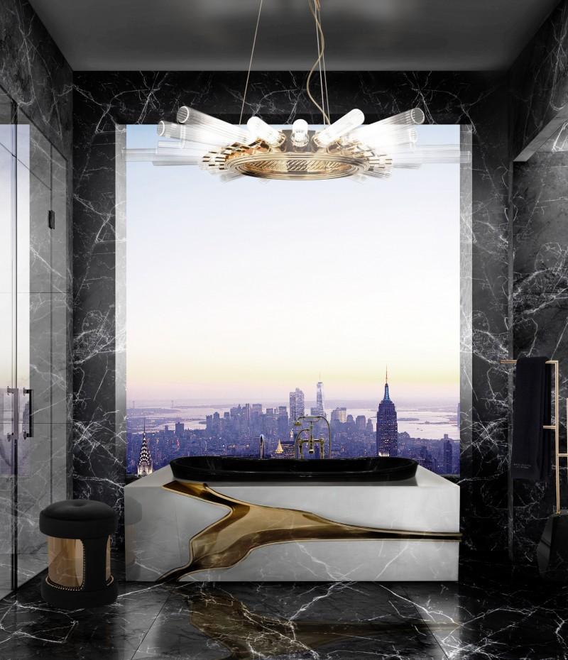 Gorgeous Luxury Bathrooms in New York Worth Taking a Look luxury bathrooms in new york Gorgeous Luxury Bathrooms in New York Worth Taking a Look modern bathroom with lapiaz bathtub and armour stool 1
