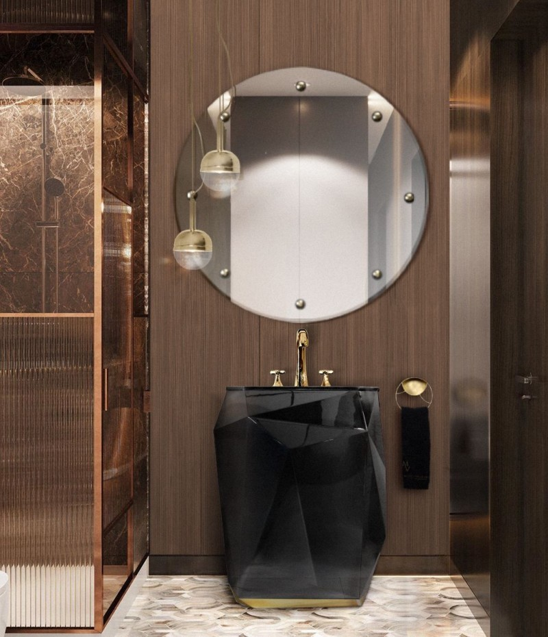 The Most Inspiring Ideas from Motion Design the most inspiring ideas from motion design The Most Inspiring Ideas from Motion Design small luxury bathroom with diamond freestanding and blaze mirror 1