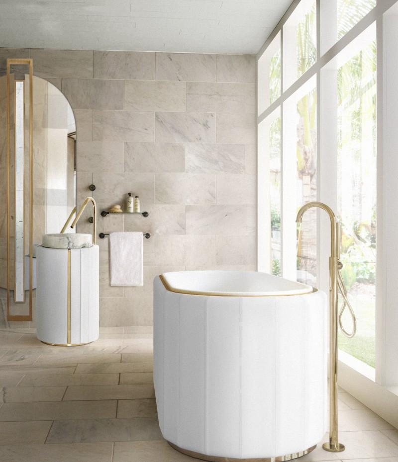 andrea castrignano The Best Modern Bathroom Designs by Andrea Castrignano sophisticated bathroom with white darian bathrtub and darian frestanding 1 1