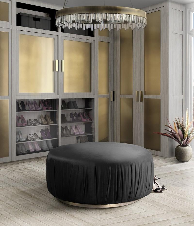 Luxury Interior Design Studio: Spagnulo and Partners spagnulo and partners Luxury Interior Design Studio: Spagnulo and Partners stunning dressing room featuring ella puff 1