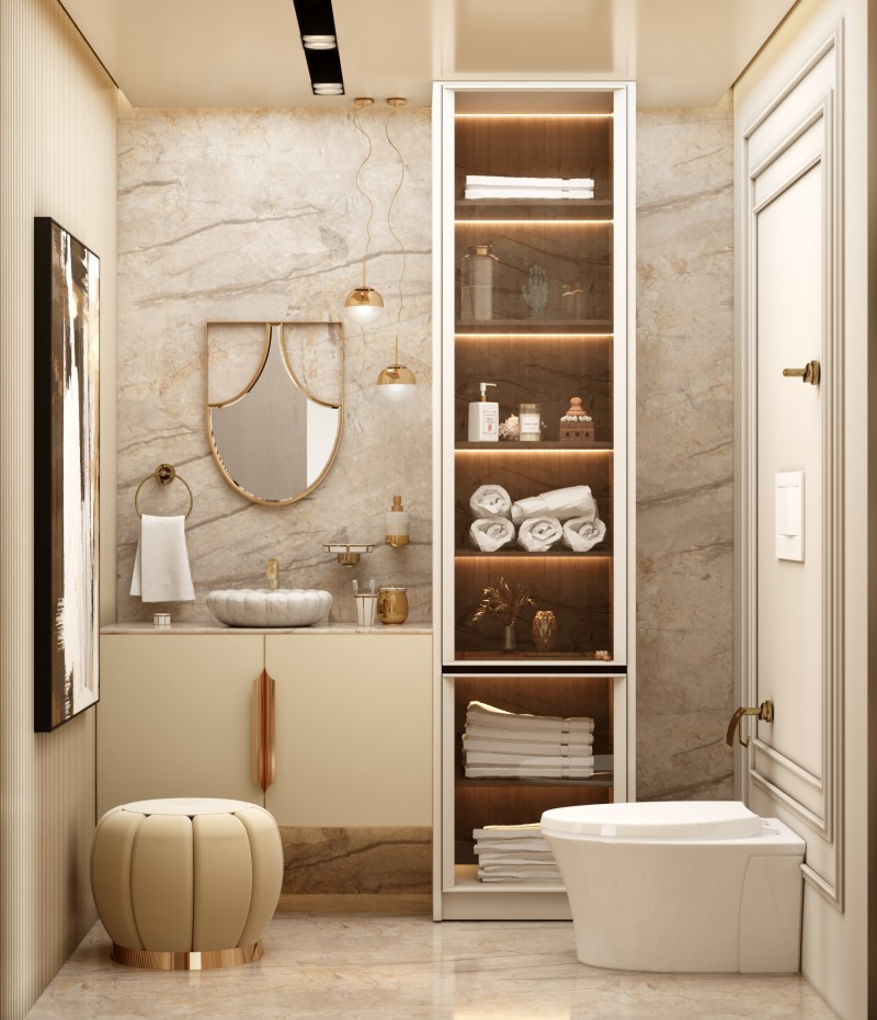 10 Marvellous Bathroom Projects you must get inspired by 10 marvellous bathroom projects you must get inspired by 10 Marvellous Bathroom Projects you must get inspired by white tone bathroom with koi mirror and lotus vessel sink 1