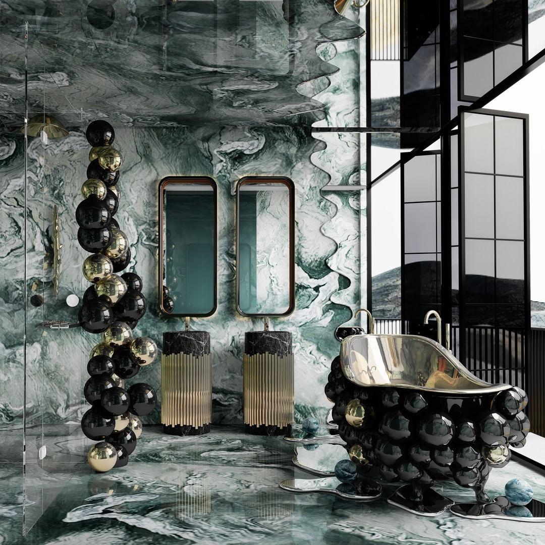 Blue Metallic Colorful bathroom colorful bathroom Colorful Bathrooms: Discover The Latest Bathroom Color Ideas 171619219 2507410486221969 5561580485541422289 n
