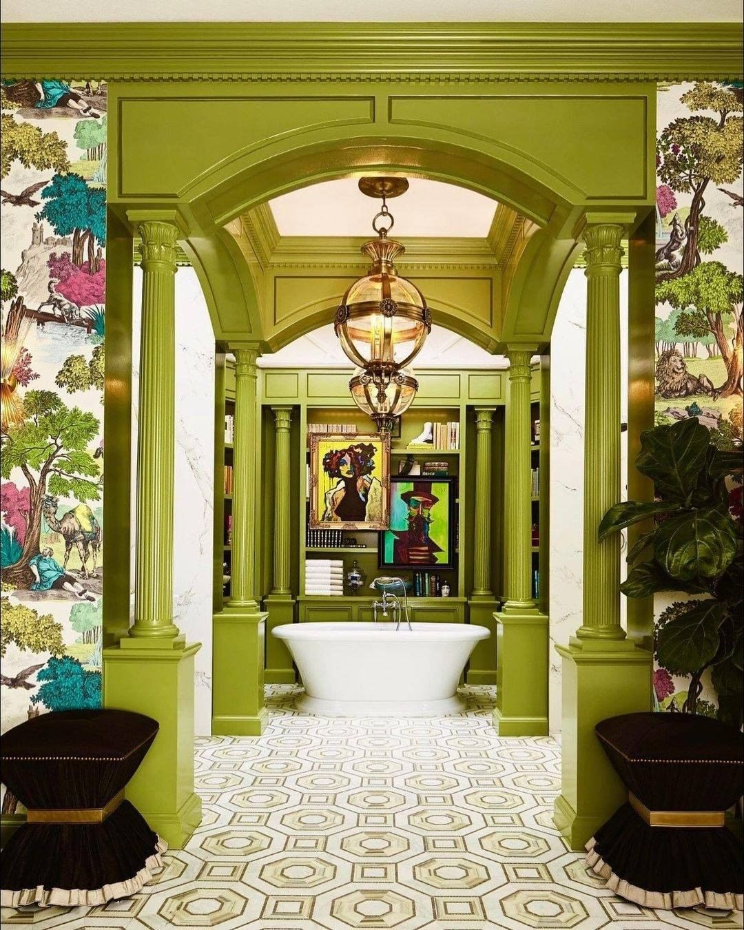 Stunning Colorful Master Bathroom  colorful bathroom Colorful Bathrooms: Discover The Latest Bathroom Color Ideas 177662745 3769432309772761 8491673986406024017 n