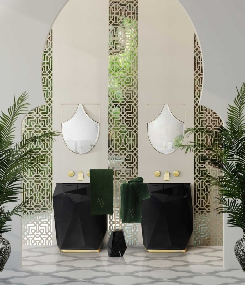 TEG Designs teg designs TEG Designs: Classic Bathroom Inspirations kig bathroom with diamond freestanding and diamond towel rack 1