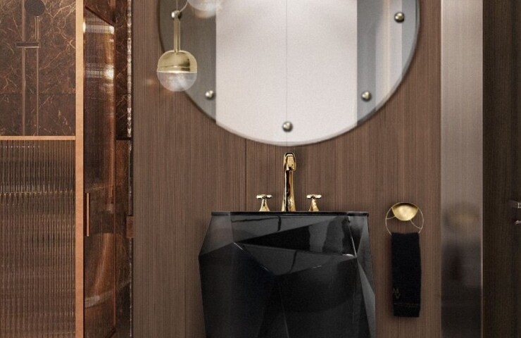 small bathroom Small Bathroom Designs: How to turn them into Luxurious and Spacious Oasis small luxury bathroom with diamond freestanding and blaze mirror 1  homepage small luxury bathroom with diamond freestanding and blaze mirror 1