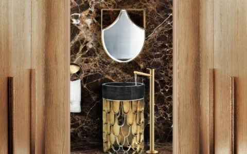 bathroom design Bathroom Design Blissfulness: Fall Trends to impress brown marble luxury guest bathroom with koi collection 1 1 480x300