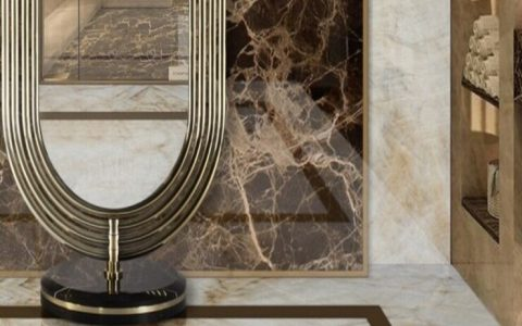 dressing room Start Preparing Your Dressing Rooms for the Fall Season fabulous colosseum mirror in a marvelous master bathroom 1 1 1 480x300