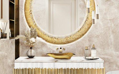 bathroom ideas Bathroom Ideas From Maison Valentina's Room By Room gold details master bathroom 1 1 480x300