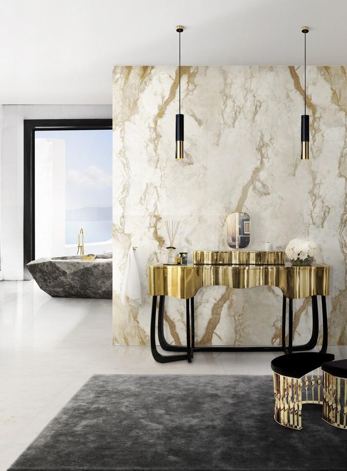 Hot Bathroom Trends for 2016 hot bathroom trends for 2016 Hot Bathroom Trends For 2016 11 sinuous dressing table mandy stool diamond bathtub maison valentina HR1