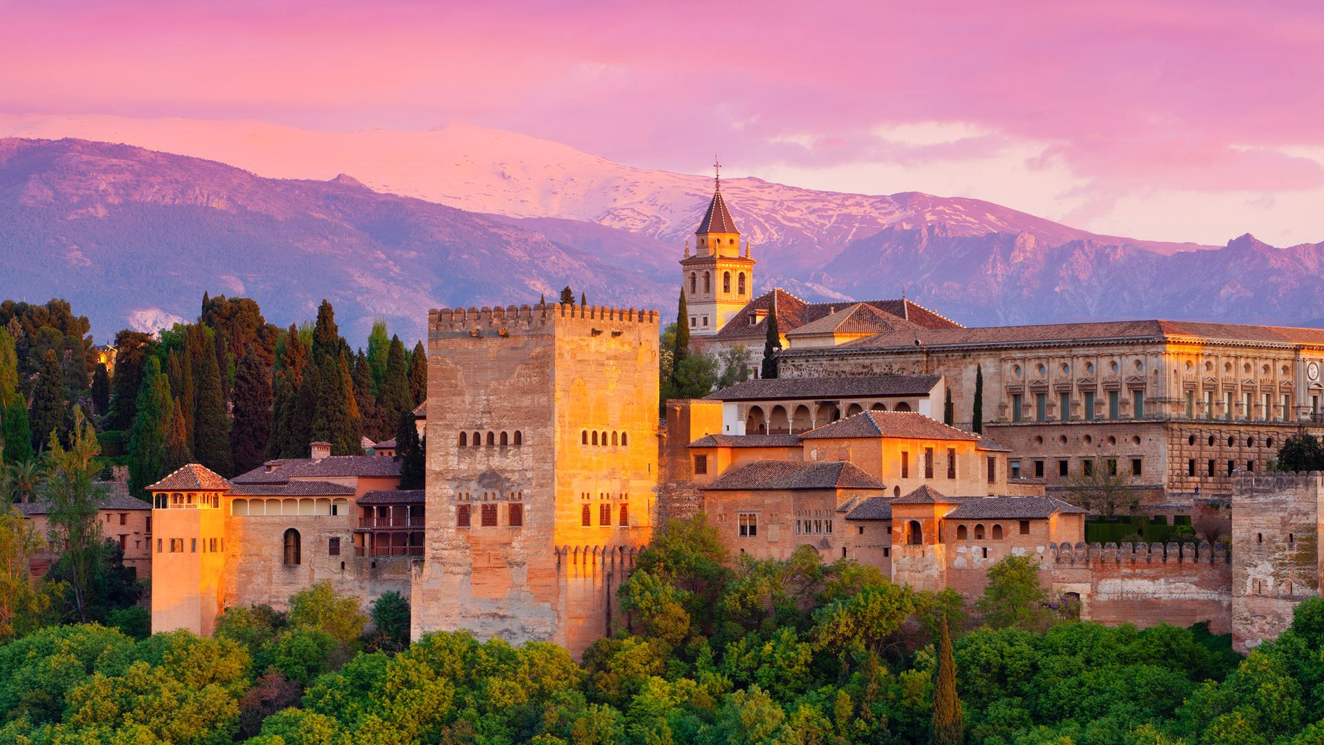 Most Stunning Buildings in the World Most Stunning Buildings in the World The Most Stunning Buildings in the World According to Lonely Planet  alhambra palace at sunset  granada  spain Copy
