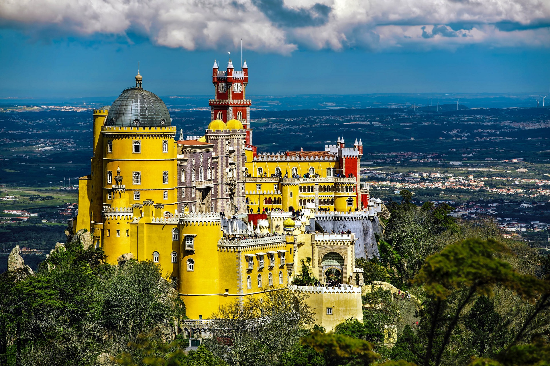 Most Stunning Buildings in the World Most Stunning Buildings in the World The Most Stunning Buildings in the World According to Lonely Planet  pena national palace sintra portugal shutterstock 403148269 2