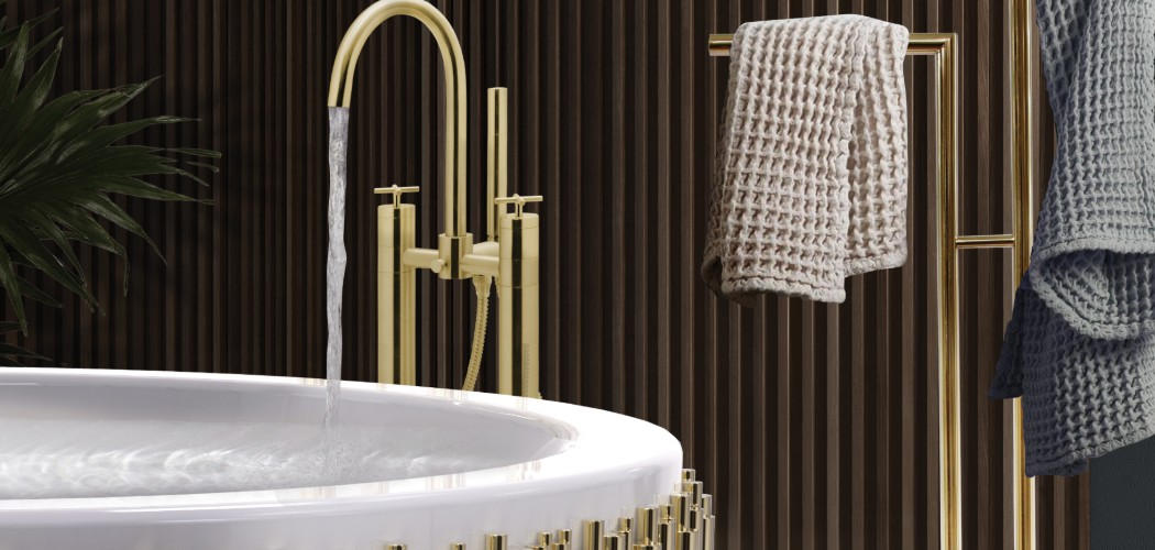 5 Gold-Accented Wall Mirrors To Enchance Your Luxury Bathroom Decor