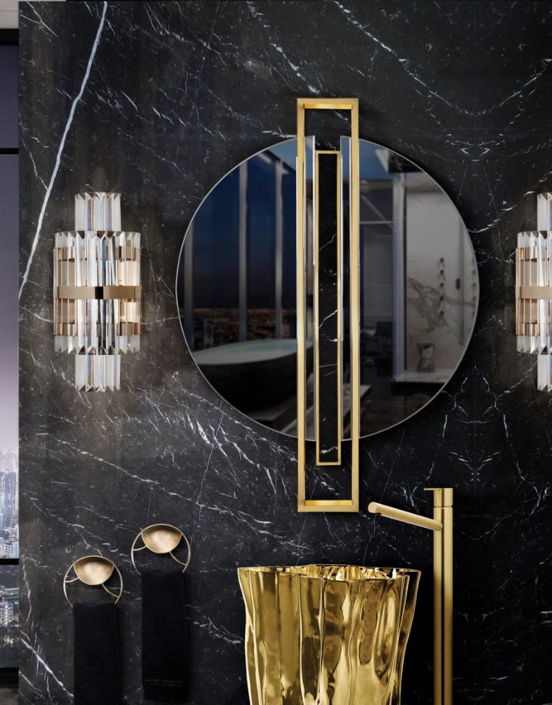 Black and Gold Bathroom Design 5 Pieces to Support this Combo black and gold bathroom design Black and Gold Bathroom Design: 5 Pieces to Support this Combo Black and Gold Bathroom Design 5 Pieces to Support this Combo 3