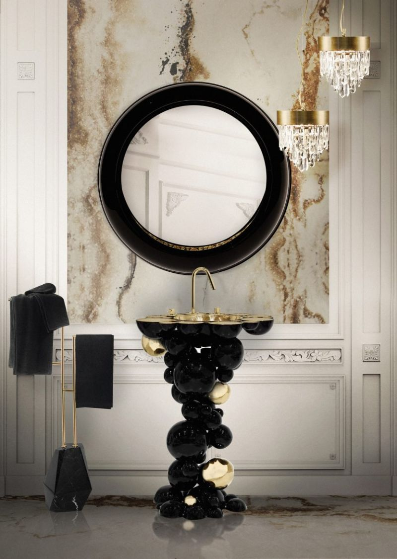 Black and Gold Bathroom Design 5 Pieces to Support this Combo black and gold bathroom design Black and Gold Bathroom Design: 5 Pieces to Support this Combo Black and Gold Bathroom Design 5 Pieces to Support this Combo 5