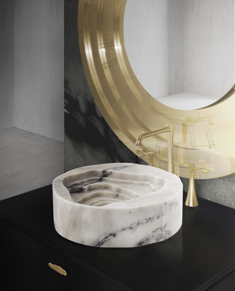 winter 2020, trends, Maison Valentina, interior design, bathroom, products, modern design, bathtub, armchair, stool, lamp, surface, tap, vessel sink, table,  winter 2020 Interior Design Trends for winter 2020: Discover what MV have for you trends 10
