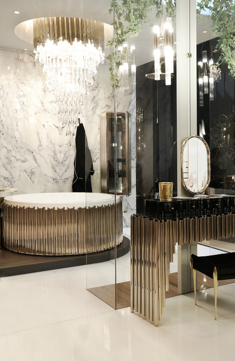 winter 2020, trends, Maison Valentina, interior design, bathroom, products, modern design, bathtub, armchair, stool, lamp, surface, tap, vessel sink, table,  winter 2020 Interior Design Trends for winter 2020: Discover what MV have for you trends 2 1