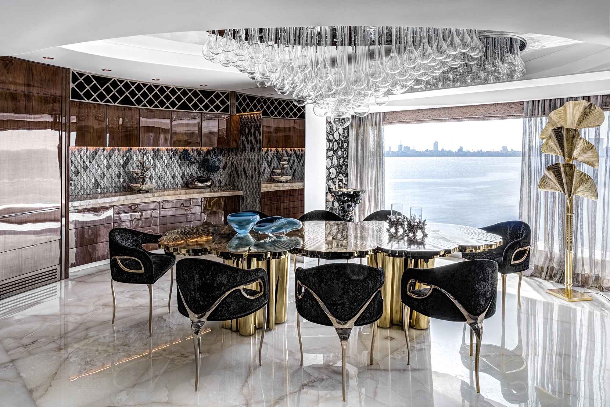 Luxurious Apartment; Luxury; Apartment; Project; Freestanding; Elegant; Luxury; Maison Valentina; Three Hole Mixer Tap; interior design; extraordinary; eclectic