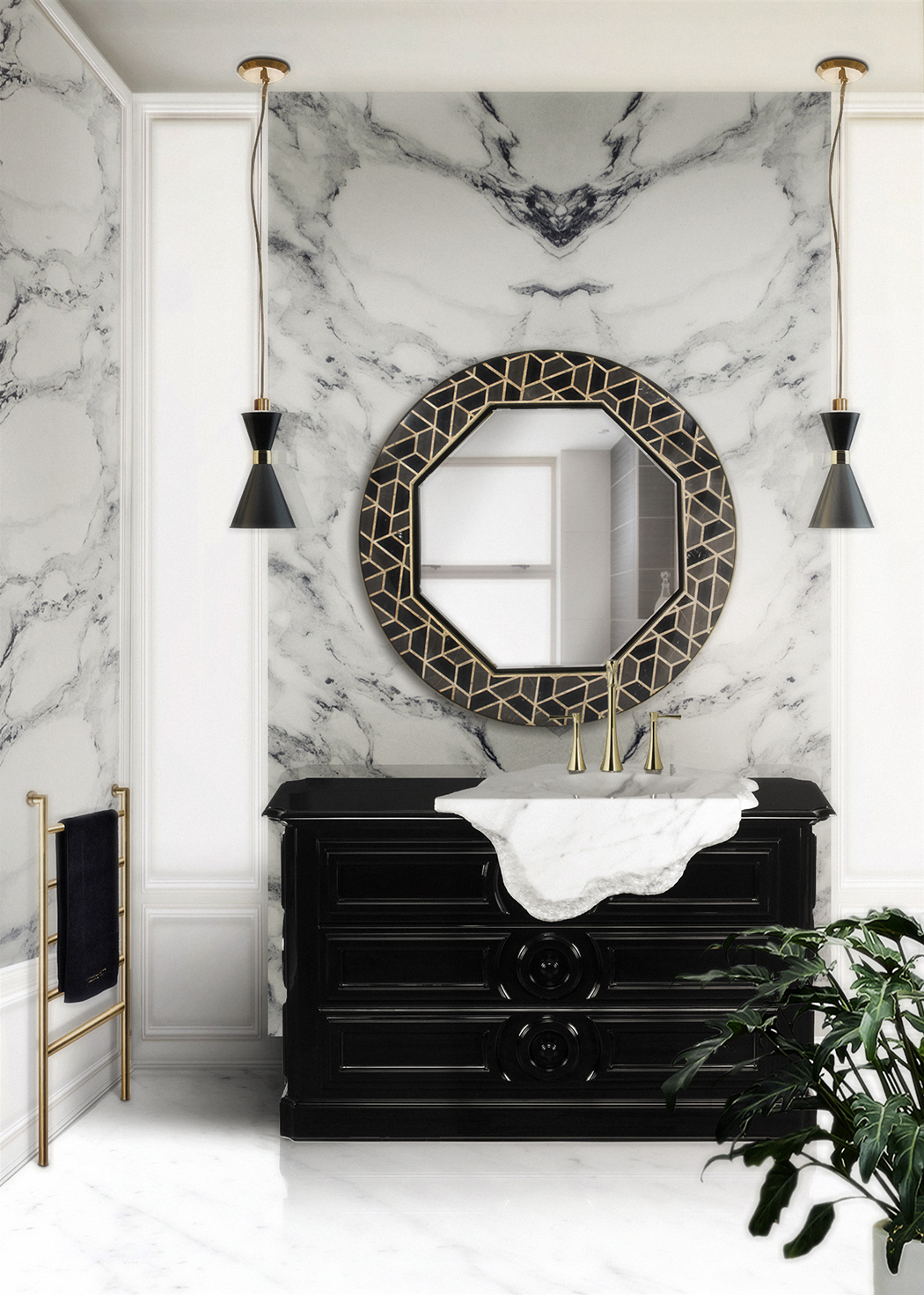 5 Marble Bathroom Accessories to Fall in Love Marble Bathroom 5 Marble Bathroom Accessories to Fall in Love 63 HR
