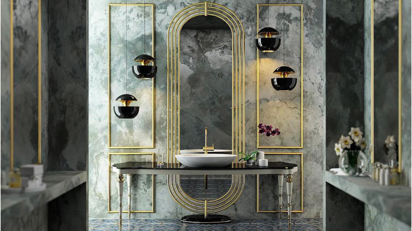 Geometric Shapes Sophisticated Bathroom Trend: Geometric Shapes project maison valentina small zoom 1
