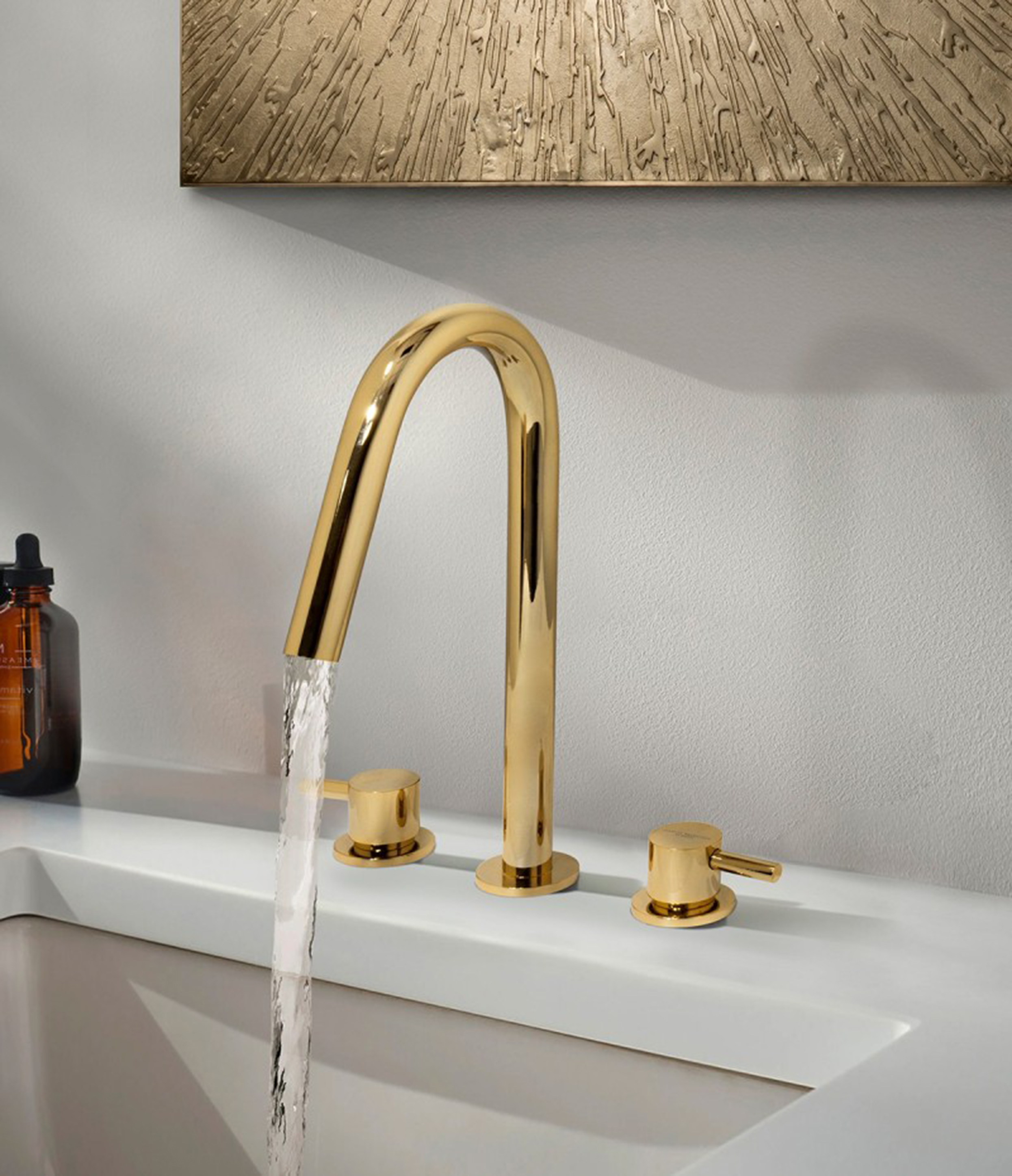 Sophisticated Taps to Enhance your Bathroom  Sophisticated Taps Sophisticated Taps to Enhance your Bathroom bathroom decor detail with origin three hole mixer tap 1