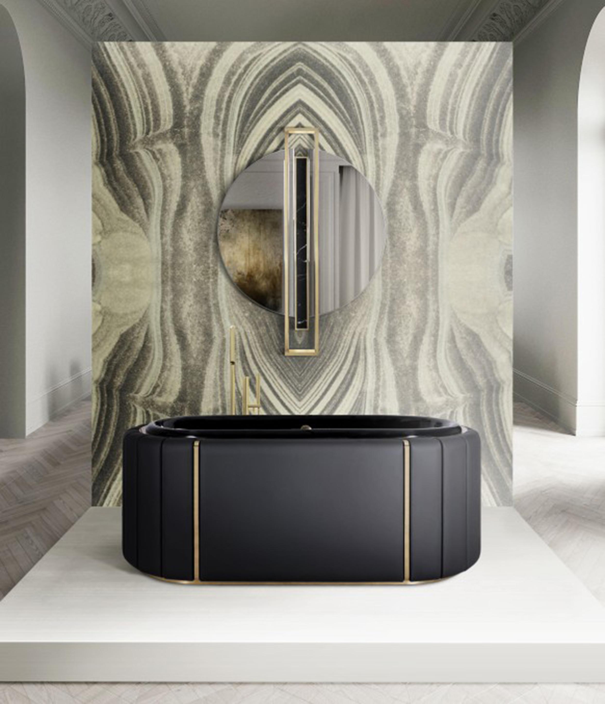 Bathroom Soft Bathroom Solutions private oasis bathroom with darian bathtub and black agatha surface 1