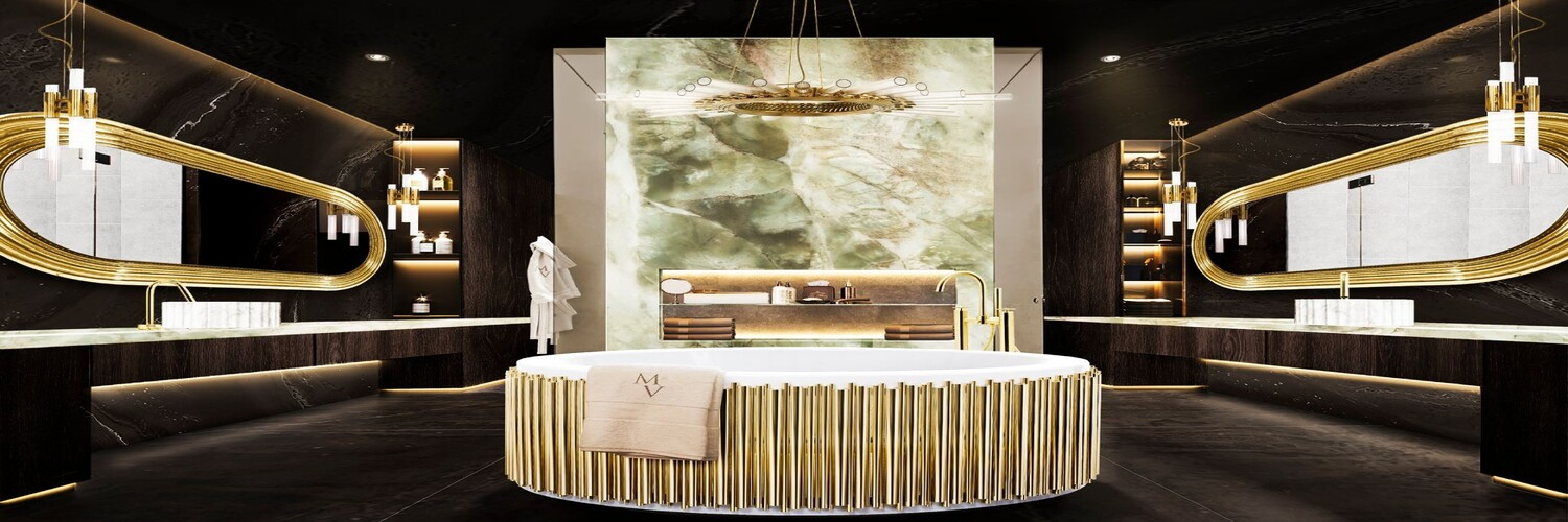 Gold Bathrooms: The Most Shining Designs
