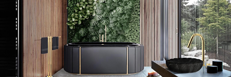 Green Bathroom Designs For Blissful Interiors