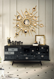 MONDRIAN Black Sideboard by Boca do Lobo