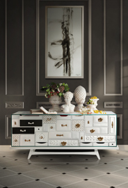 MONDRIAN White Sideboard by Boca do Lobo